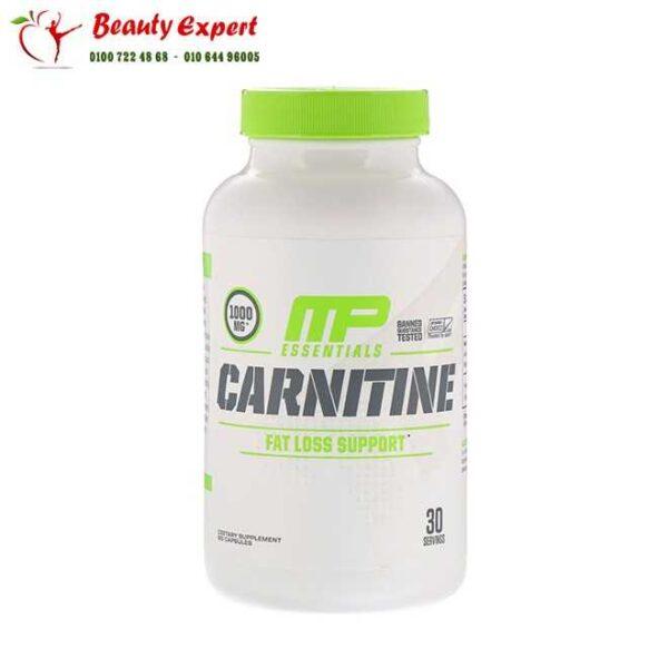 حبوب ال كارنتين للتخسيس مع الراسبيري كيتون - 60 كبسولة | MusclePharm Carnitine